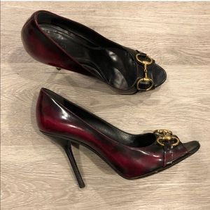 Gucci Old Wimbledon Cherry Nero Horsebit Heels 11B
